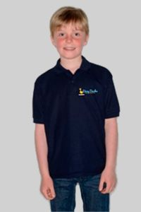 Dizzy Ducks - Childs Polo Shirt Navy