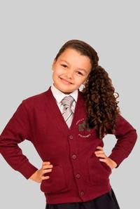 Holly Trees Primary - Sweatshirt Cardigan Burgundy