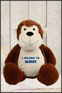 Personalised Mumbles Zippie Monkey