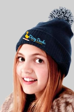 Dizzy Ducks - Childs Bobble Hat Navy