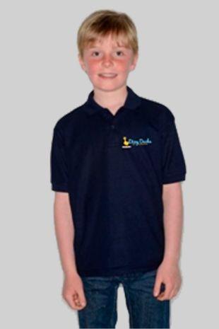 Dizzy Ducks - Childs Polo Shirt Navy