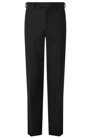 Boys Senior Trousers Regular Fit - Black