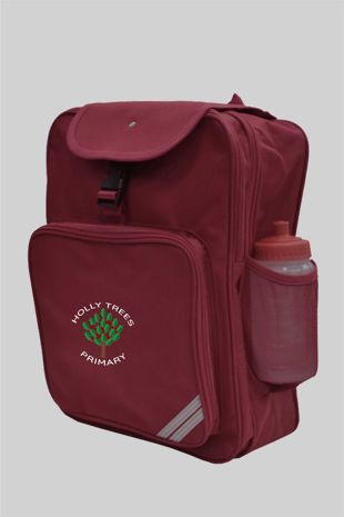 Holly Trees Primary - Large Rucksack Burgundy