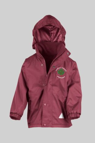 Holly Trees Primary  - Reversible Fleece Jacket Burgundy