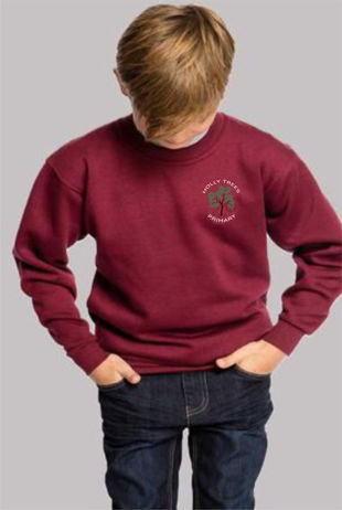 Holly Trees Primary - Sweatshirt Burgundy