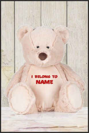 Personalised Mumbles Zippie Teddy