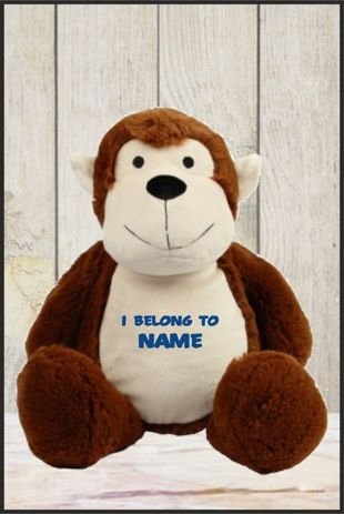 Personalised Mumbles Zippie Monkey