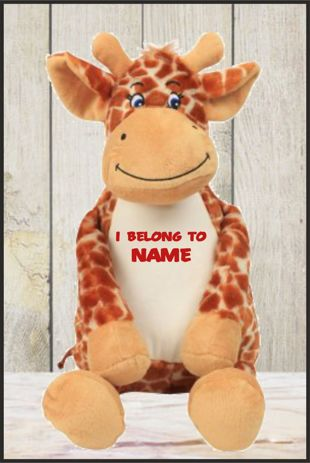 Personalised Mumbles Zippie Giraffe