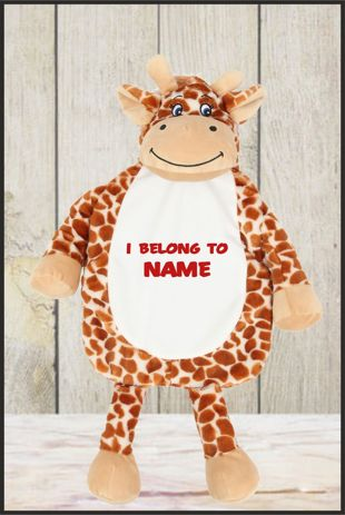 Personalised Giraffe Hot Water Bottle Cover