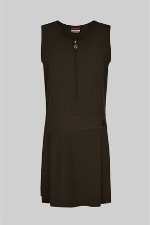 Pinafore  - Brown Stretch