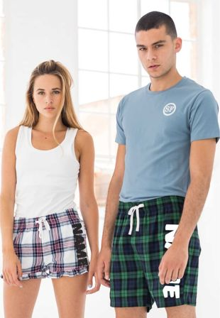 Personalised Tartan Unisex Pyjama Shorts