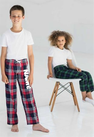 Personalised Tartan Kids Pyjama Bottoms