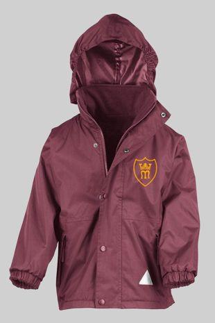 St Marys Primary  - Reversible Fleece Jacket Burgundy