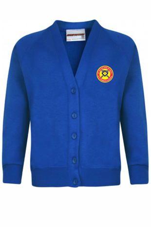 St Peter and St Paul - Sweatshirt Cardigan Royal Blue