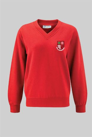 Willowbrook Primary - V-Neck Sweatshirt Red