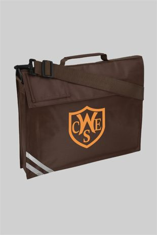 Wickford C of E  School - Book Bag with Strap Brown