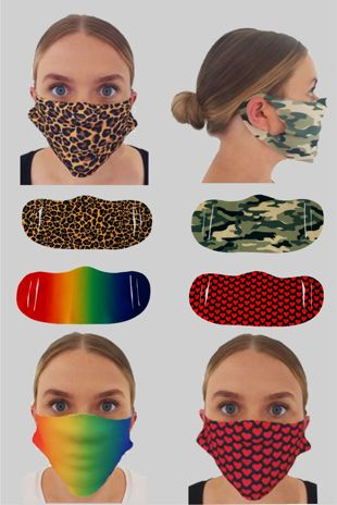 Washable Patterned Face Cover - Pack of 5 - Multiple Designs Available