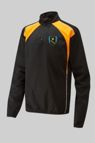 Shenfield High School *NEW YEAR 7 2020* - Tracksuit Top (Optional) Black/Amber