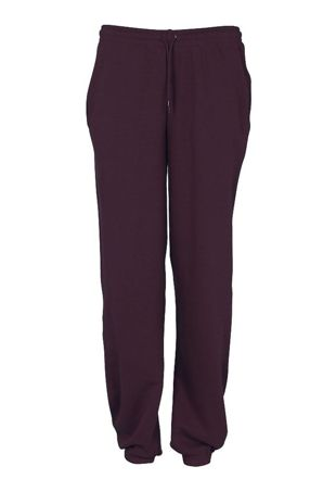 Holly Trees Jogging Bottoms - Burgundy