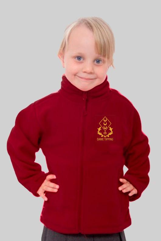 Dame Tipping Primary - Fleece Burgundy