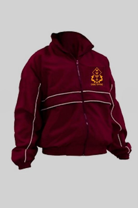 Dame Tipping Primary - Tracksuit Jacket Burgundy