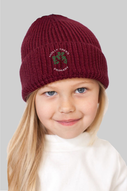 Holly Trees Primary - Woolly Hat Burgundy