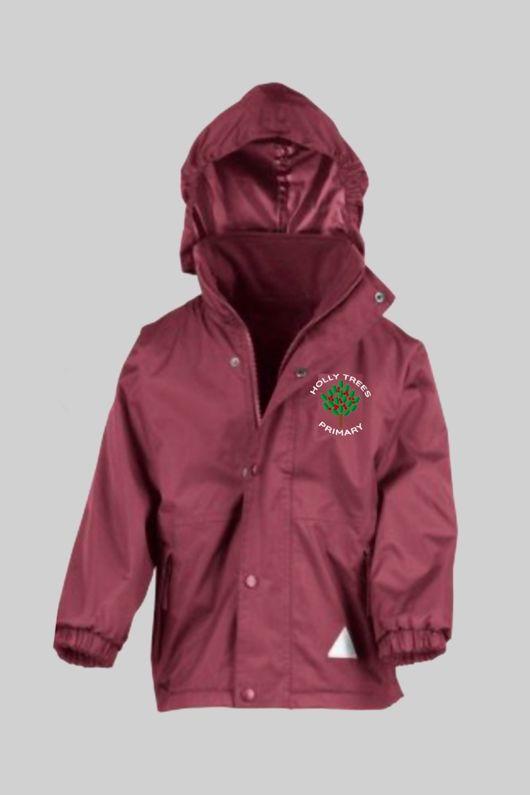 Holly Trees Primary  - Reversible Fleece Jacket Burgundy
