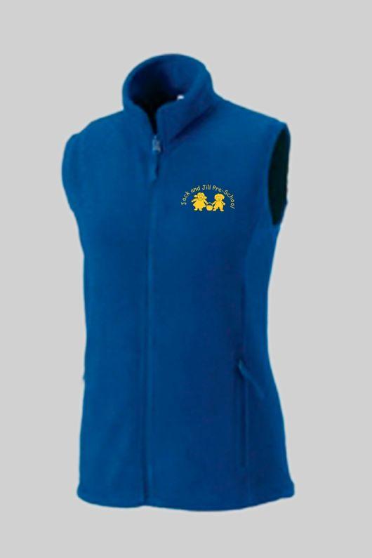 Jack & Jill Preschool - Staff Lady Fit Fleece Gilet Royal Blue