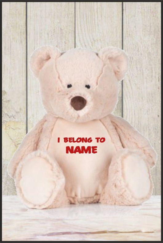 Personalised Mumbles Zippie Teddy