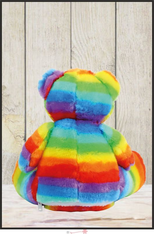Mumbles - Zippie Rainbow Bear with Personalised Name
