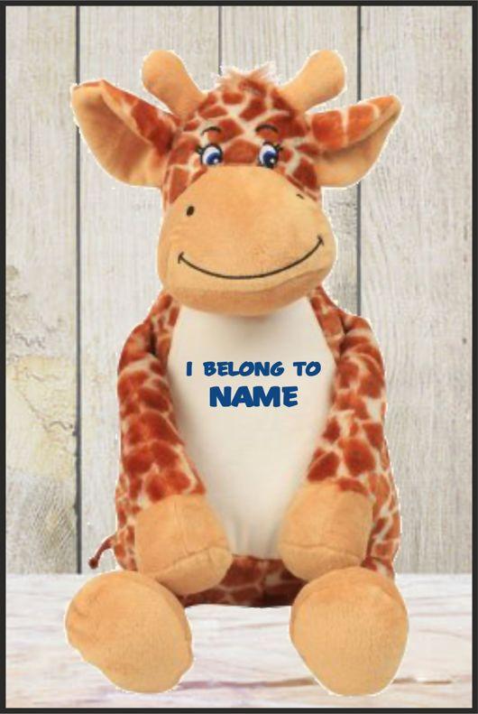 Personalised Mumbles Zippie Giraffe