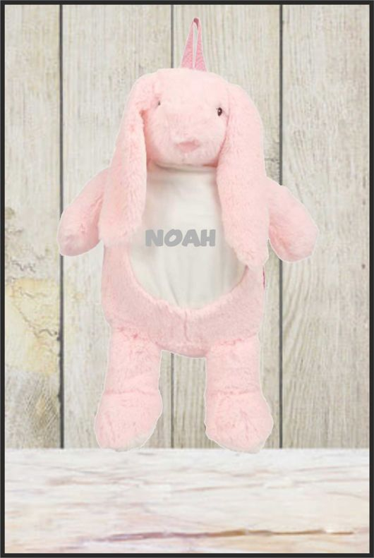 Zippie Bunny Backpack With Personalised Name