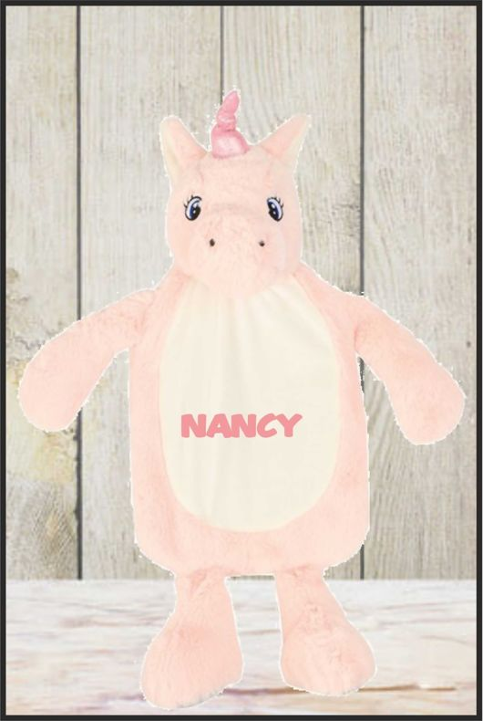 Personalised Unicorn Hot Water Bottle Cover