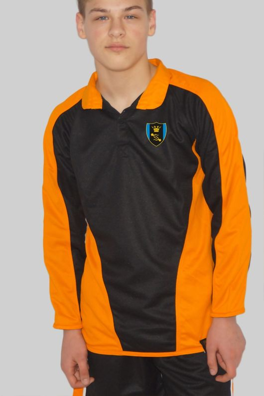 Shenfield High School *NEW YEAR 7 2020* - Rugby/Outdoor Jersey Black/Amber